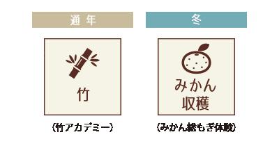 竹・みかん収穫